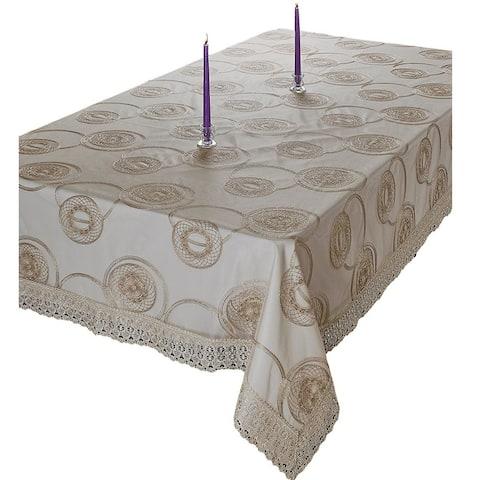 Violet Linen Marvelous Tablecloth