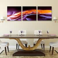 Furinno Seni Scenic Canyon Antelope 3-Panel Canvas on Wood Frame, 60 x 20-in