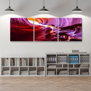 Furinno Seni Canyon Antelope 3-Panel Canvas on Wood Frame, 60 x 20-in