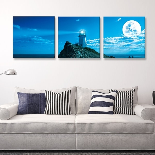 Shop Furinno SENIC Guiding Light 3-Panel Canvas on Wood Frame, 60 x ...
