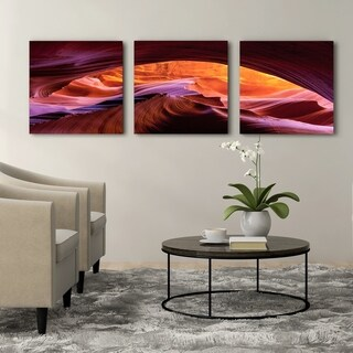 Furinno Seni Arizona Canyon Antelope 3-Panel Canvas on Wood Frame, 60 x 20-in