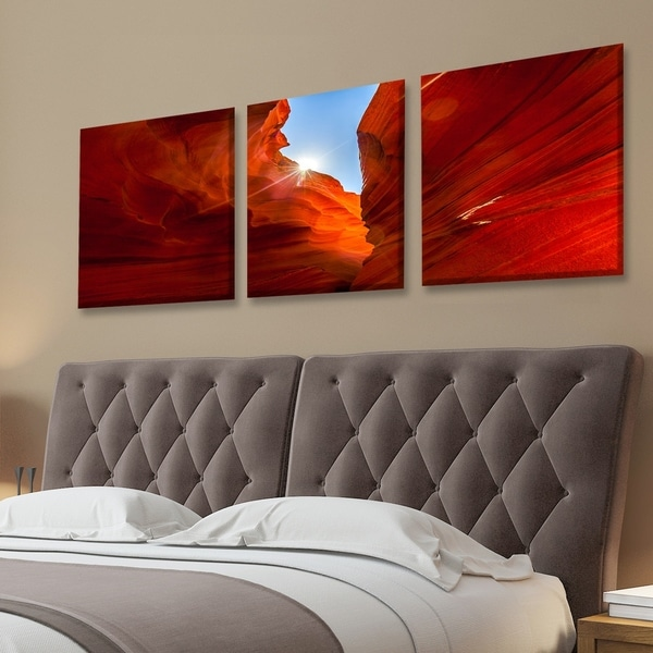 Shop Furinno Seni Sunrise Canyon Antelope 3 Panel Canvas