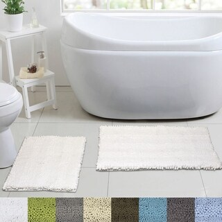 Sweet Home Collection 2 Piece Chenille Bathroom Rug Set (Assorted Colors) (More options available)