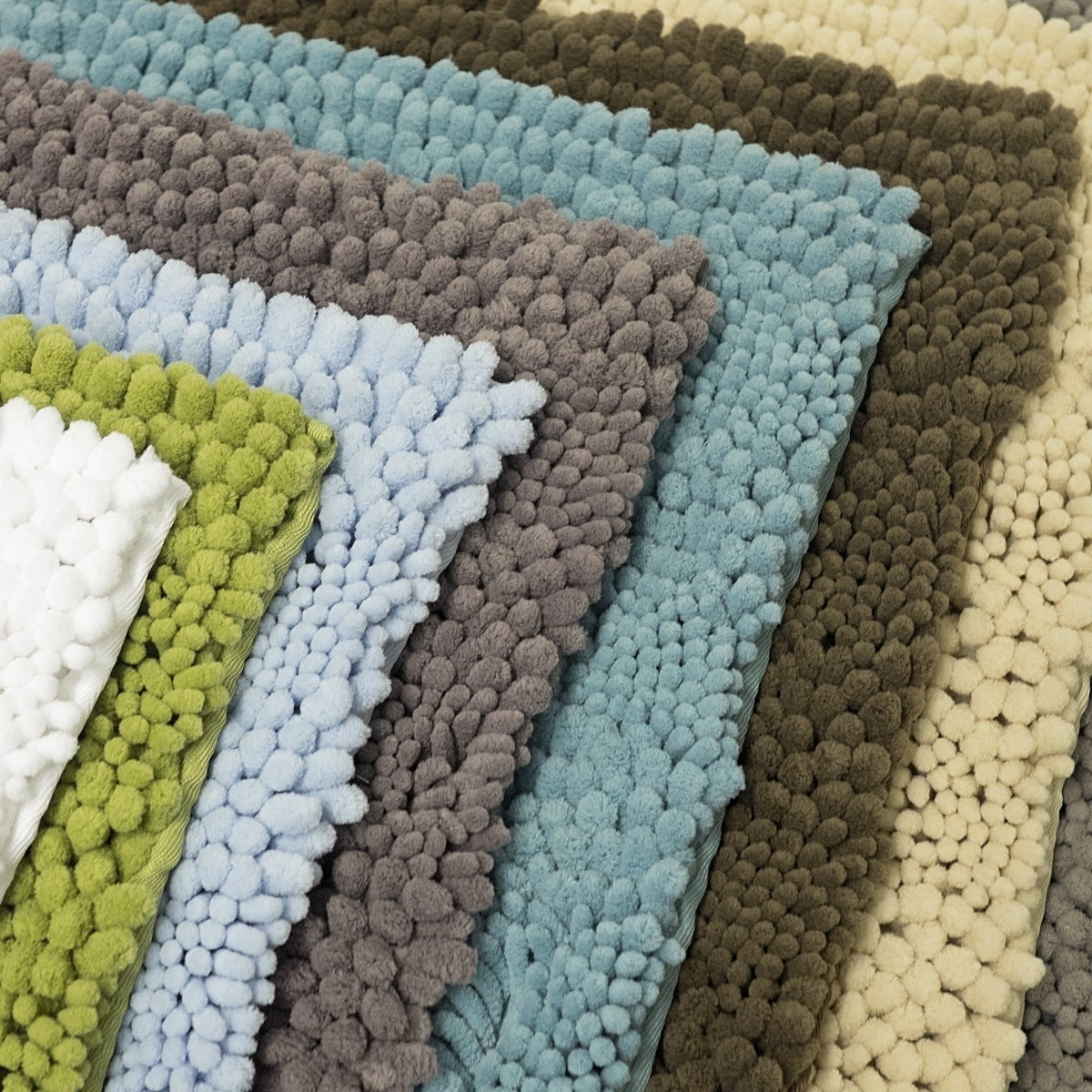 Sweet Home Collection 2 Piece Chenille Bathroom Rug Set Assorted Colors On Sale Overstock 18615819 Taupe