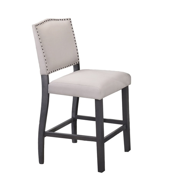 Best Quality Furniture Traditional Upholstered Counter Height Dining Chair Set Of 2 Free Shipping Today 18616013