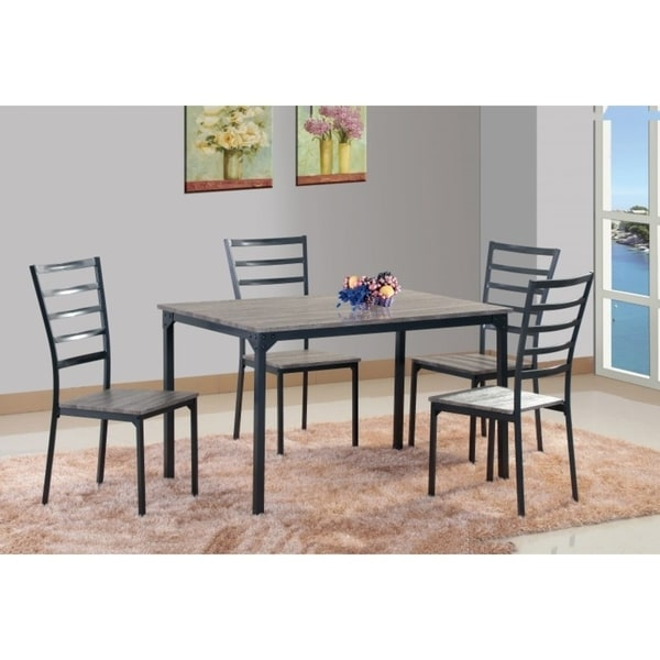 Shop Best Quality Furniture 5-Piece Rustic Dining Set