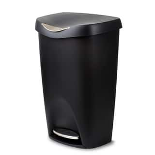Umbra Brim Large 13 Gallon Trash Can with Foot Pedal and Lid|https://ak1.ostkcdn.com/images/products/18616226/P24715004.jpg?impolicy=medium