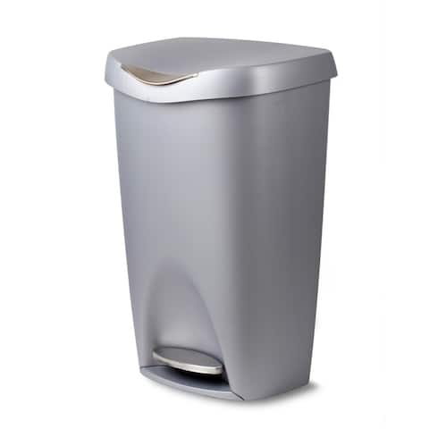 Umbra Brim Large 13 Gallon Trash Can with Foot Pedal and Lid