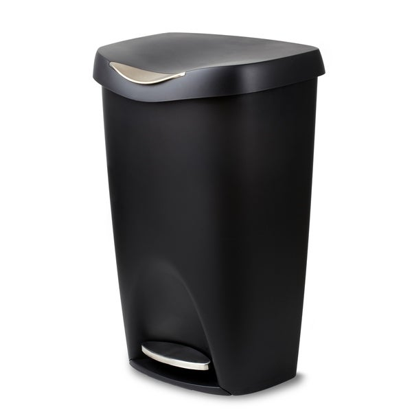 Black Kitchen Bin Sale: Shop Umbra Brim Large 13 Gallon Trash Can With Foot Pedal