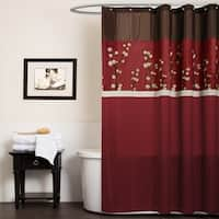 Lush Decor Cocoa Flower Shower Curtain