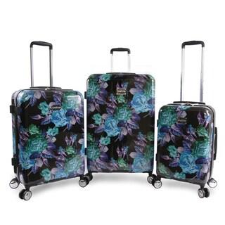 BEBE Rosette 3-piece Hardside Spinner Luggage Set