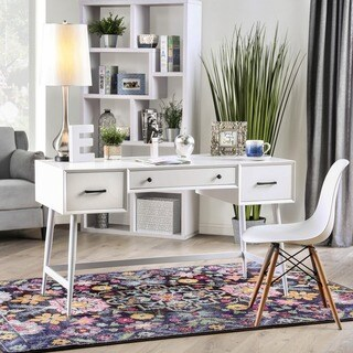 Furniture of America Nohoma White Wood Mid-century Modern Writing Desk
