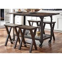 LIberty Caldwell Reclaimed Pine 5-piece Gathering Dinette Set