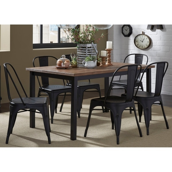 7 piece dinette set barn outerlands liberty distressed black veneer 7piece dinette set free shipping
