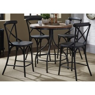 Liberty Gathering Vintage Black Metal 5-piece Dinette Set