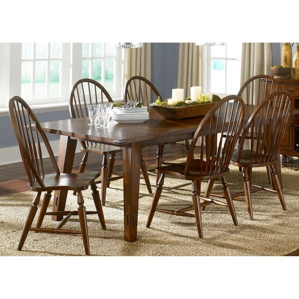 7 piece dinette set dining room cabin fever bistro brown 7piece dinette set shop on sale free