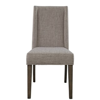 Double Bridge Dark Chestnut Upholstered Side Chair