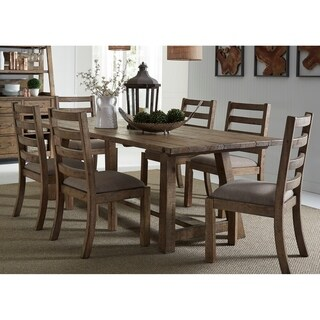 Liberty Prescott Valley Honey Brown 7-piece Trestle Table and Chairs Dinette Set