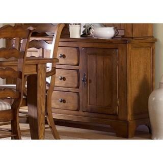 Treasures Rustic Oak 3-drawer Buffet