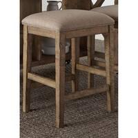 Prescott Valley Antique Honey Upholstered Counter Height Barstool