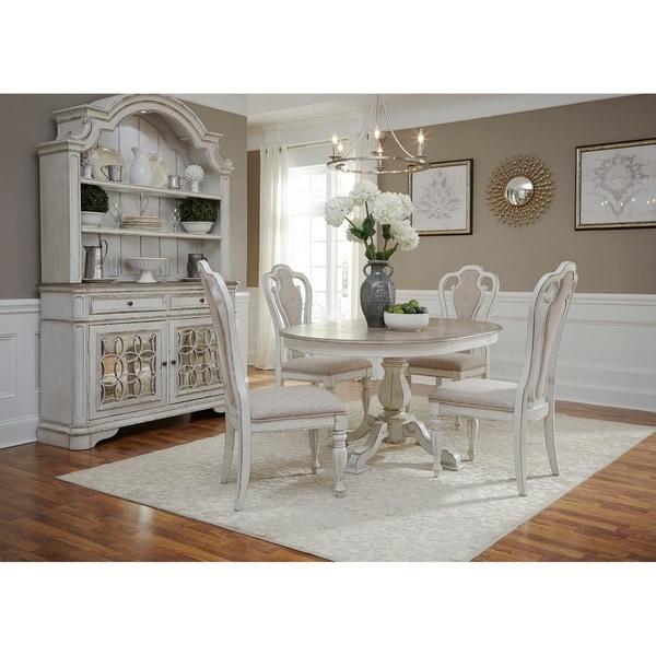Antique White Kitchen Table: Shop Magnolia Manor Antique White Pedestal Table