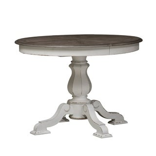 Liberty Magnolia Manor Antique White Wood Pedestal Table
