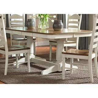 Springfield Honey and Cream Double Pedestal Table