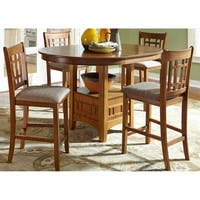 Liberty Santa Rosa Mission Oak 5-piece Counter Height Pub Set