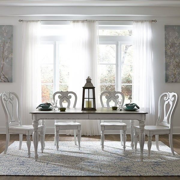 Shop Magnolia Manor Antique White 5 Piece Splat Back