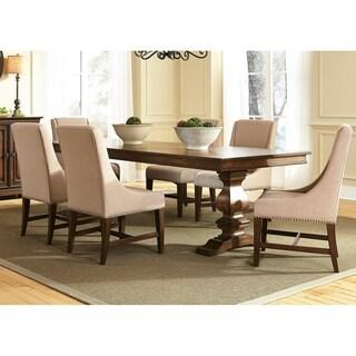 Armand Antique Brownstone Upholstered Trestle Dinette Set