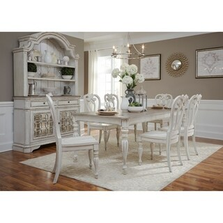 Magnolia Manor Antique White 7-piece Splat Back Rectangular Dinette Set