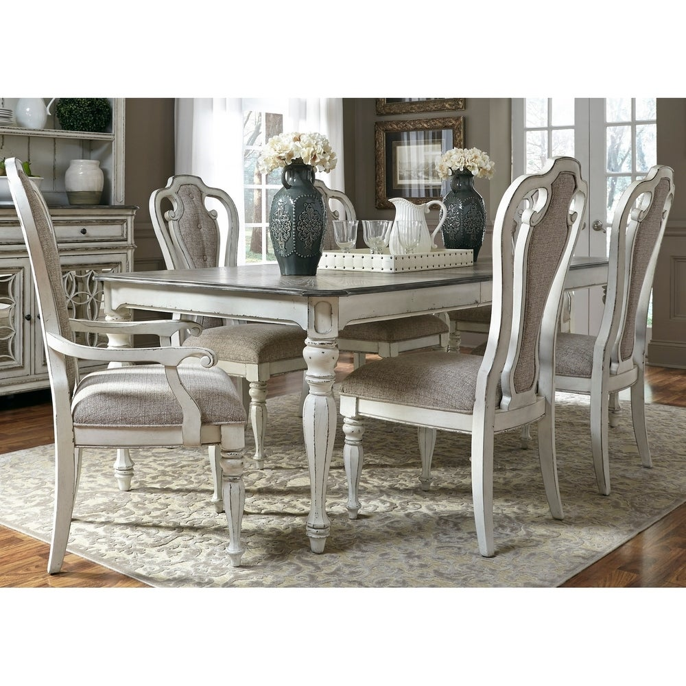 Shop Magnolia Manor Antique White 7 Piece Rectangular Dinette Set On Sale Overstock 18619061
