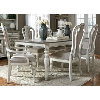 Magnolia Manor Antique White 7 Piece Splat Back Rectangular Dinette Set