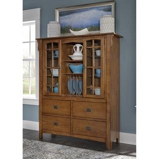 Santa Rosa Mission Oak Display Cabinet