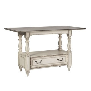Liberty Magnolia Manor Antique White Wood Gathering Table
