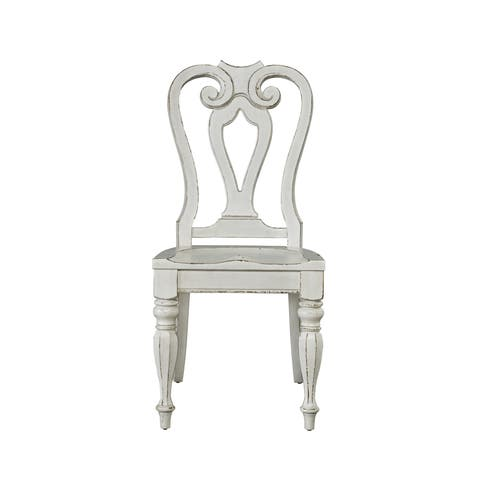 Magnolia Manor Antique White Splat Back Side Chair (Set of 2)