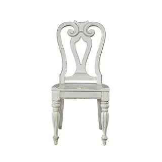 LIberty Magnolia Manor Antique White Wooden Splat-back Side Chair
