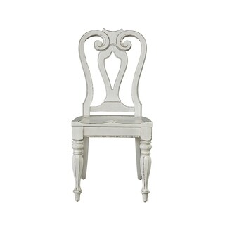 Magnolia Manor Antique White Splat Back Side Chair