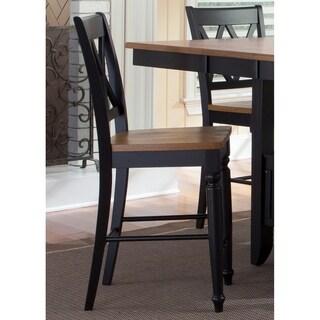Al Fresco II Driftwood and Black 5-piece Gathering Table Dining Set