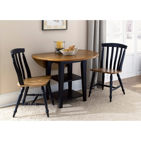 shop harbor view ii linen 3 piece round table dining set on sale free shipping today. Black Bedroom Furniture Sets. Home Design Ideas