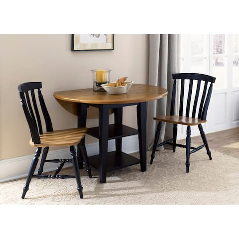 Harbor View II Linen 3-piece Round Table Dining Set