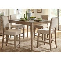 The Gray Barn Hollybush Caramel 5-piece Gathering Table Dining Set
