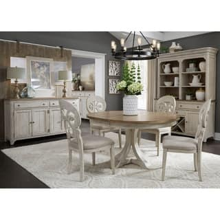 french country dining room set. Farmhouse Antique Two toned 5 piece Pedestal Table Dining Set Liberty Kitchen  Room Sets For Less Overstock com