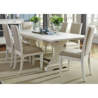 Harbor View II White Opt 7-piece Trestle Table Dining Set