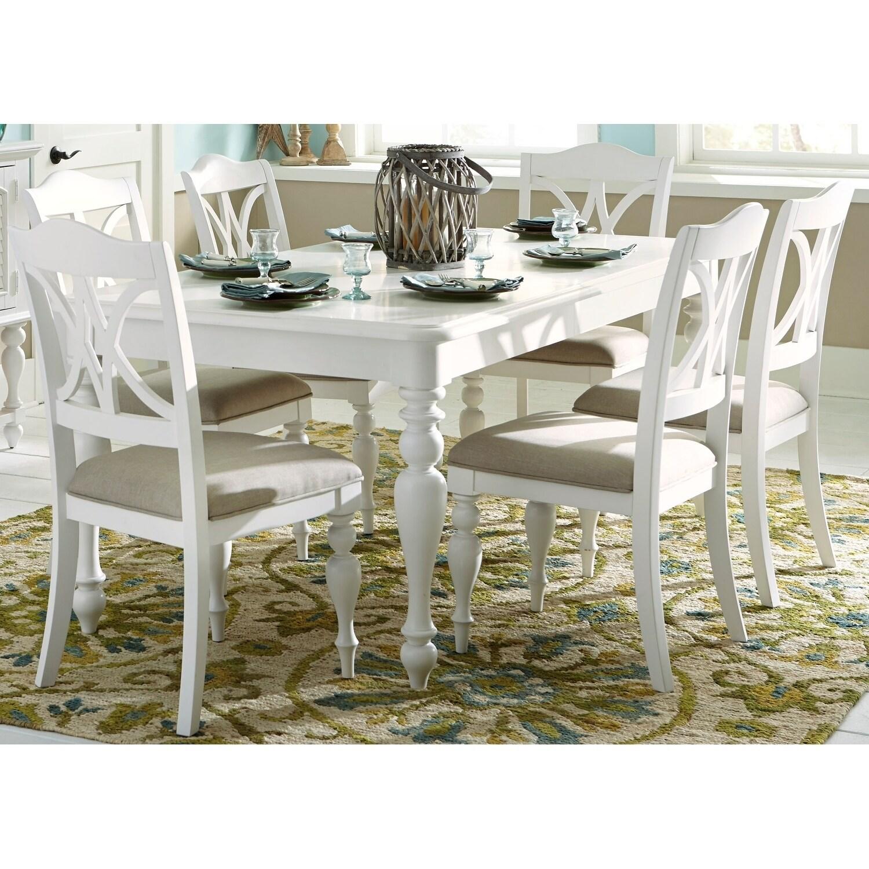 Astonishing Summer House Oyster White 7 Piece Rectangular Table Dining Set Inzonedesignstudio Interior Chair Design Inzonedesignstudiocom