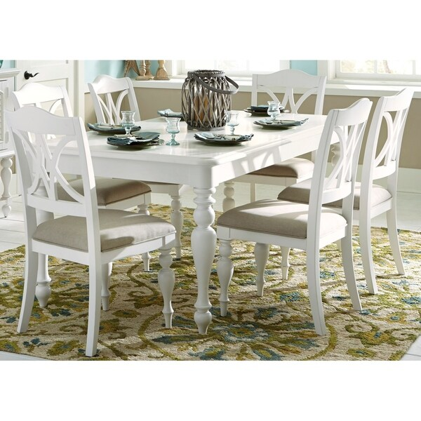 Summer House Oyster White 7-piece Rectangular Table Dining Set