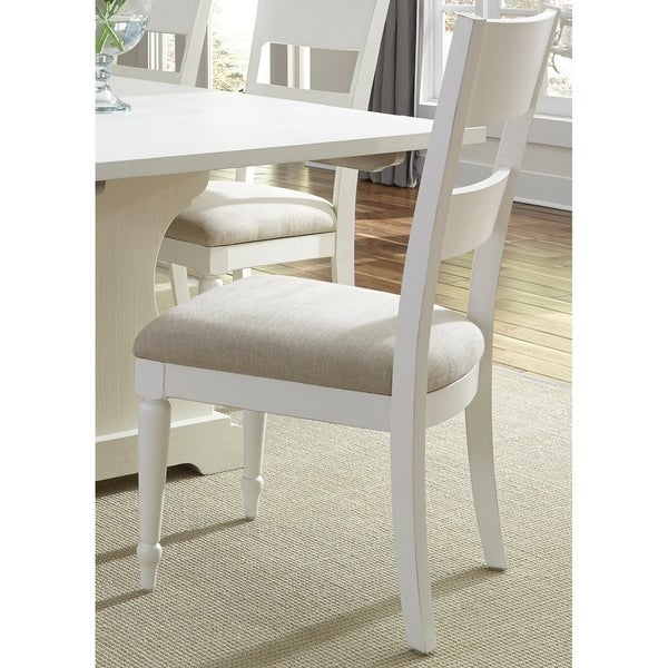 Harbor View II White 7-piece Trestle Table Dining Set
