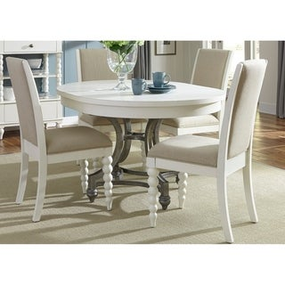 Harbor View II White Opt 5-piece Round Table Dining Set