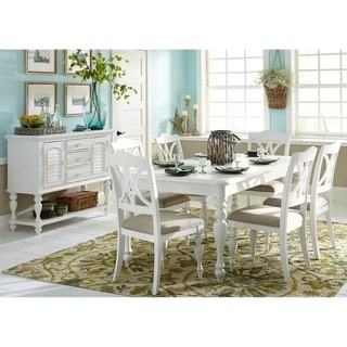 Summer House Oyster White 5-piece Rectangular Table Dining Set