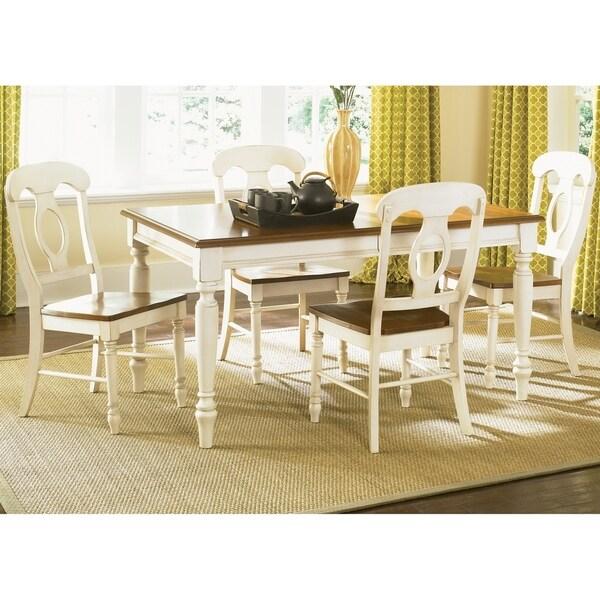 The Gray Barn Siufanua Antique White Opt 5-piece Rectangular Table Dining Set